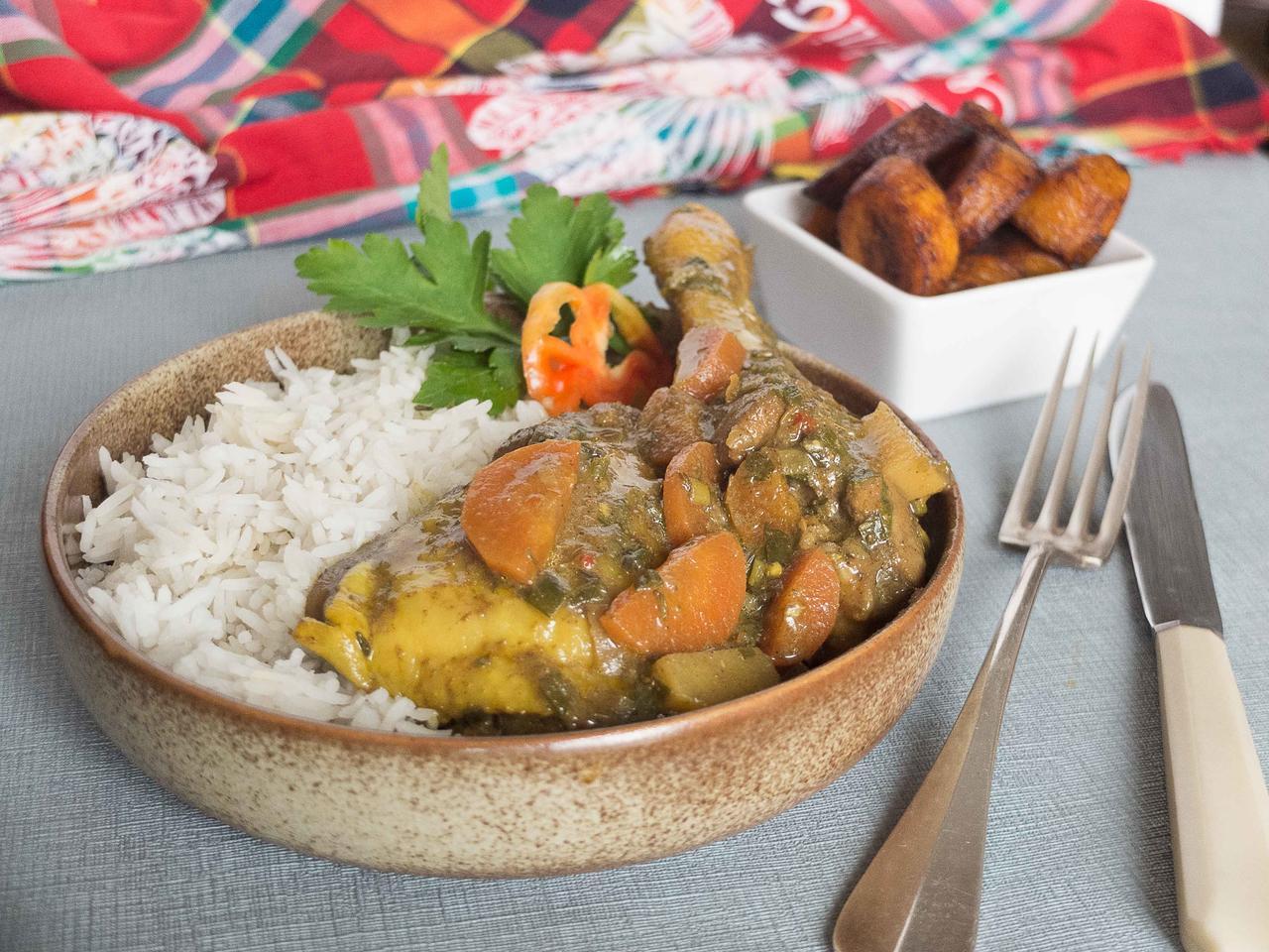 Colombo de poulet fermier cuisiné par Alison