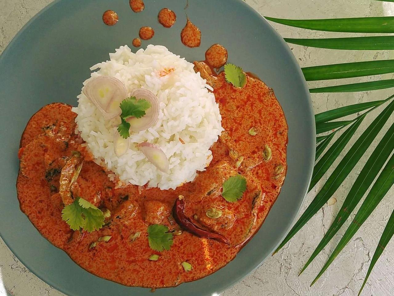 Panaeng curry cuisiné par Boong