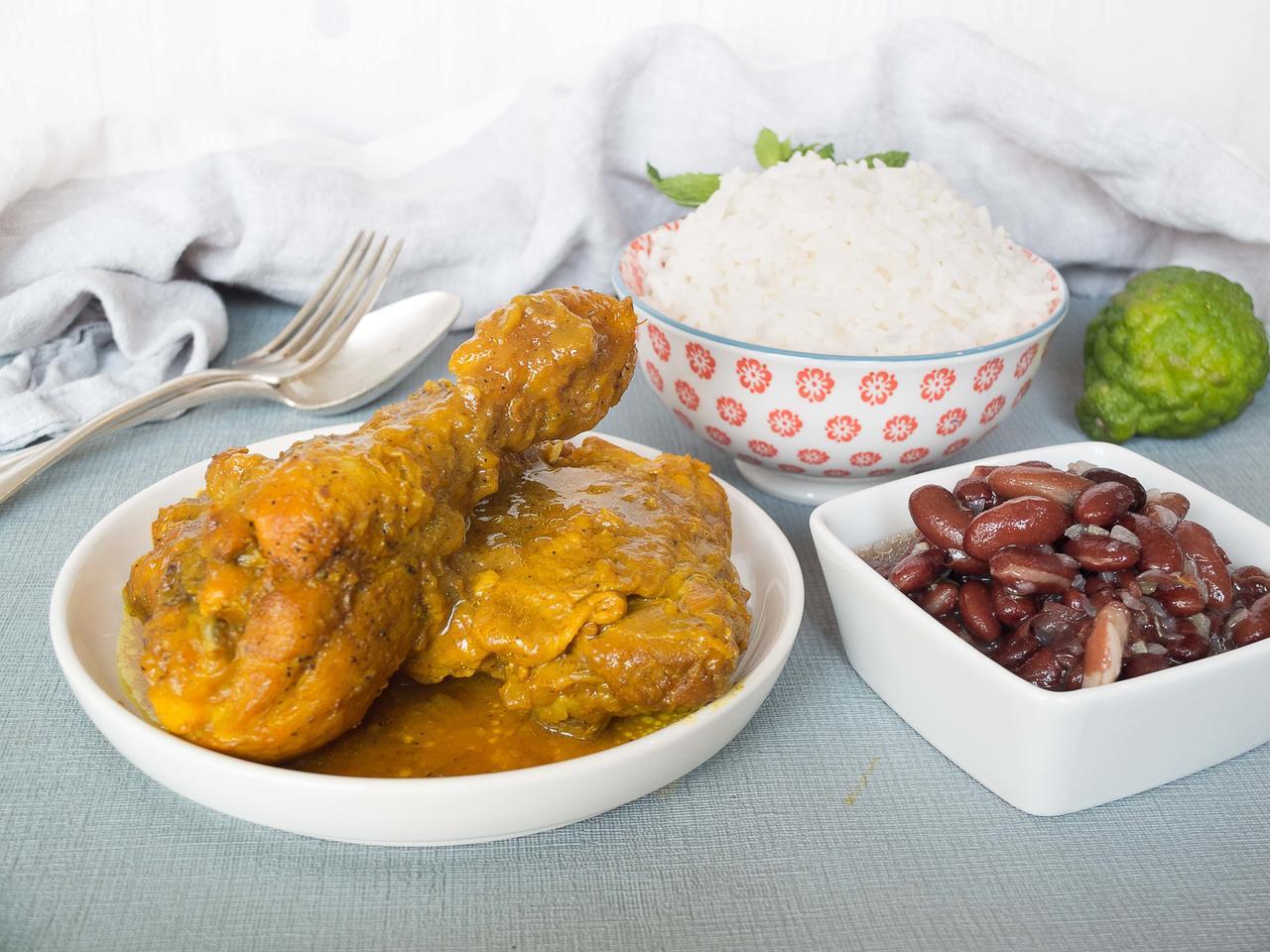 Cari poulet cuisiné par Brigitte