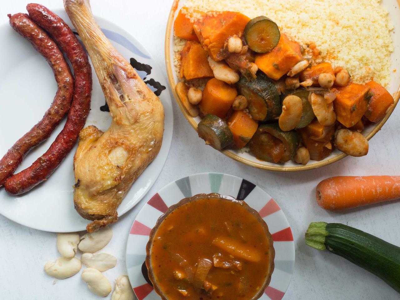 Couscous poulet merguez aux légumes de saison cuisiné par Dahmane
