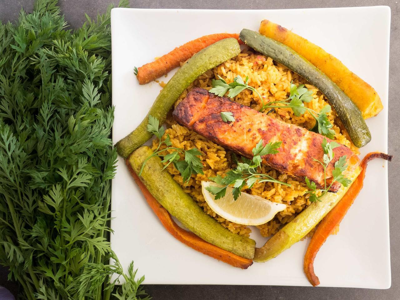 Pilaou de saumon cuisiné par FatimaI