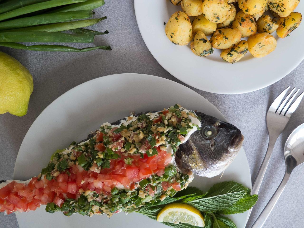 Poisson à la libanaise cuisiné par Jerome