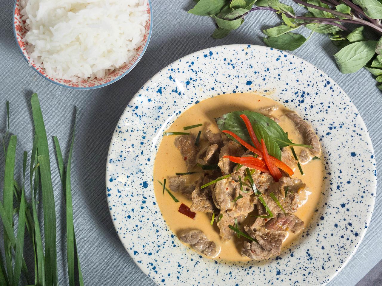 Curry de boeuf Panang cuisiné par Kenny