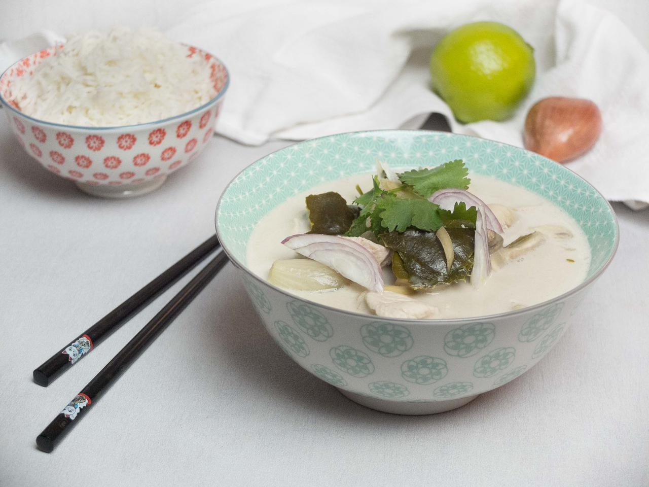 Soupe Tom Kha Kaï cuisiné par Kenny