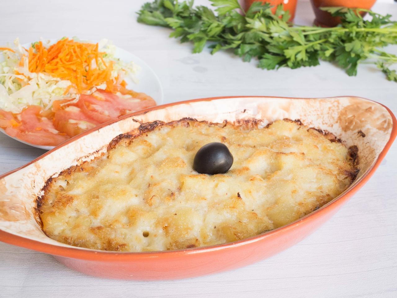 Bacalhau com natas : morue à la béchamel cuisiné par Luisa