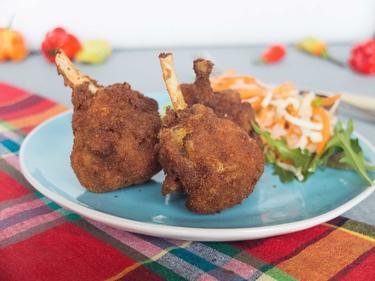 Manchons de poulet pané au massalé cuisiné par Alison