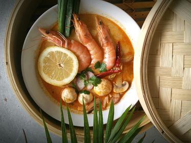 Soupe Tom Yum Koong cuisiné par Boong
