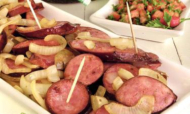 Linguica braisee cuisiné par Cristiane