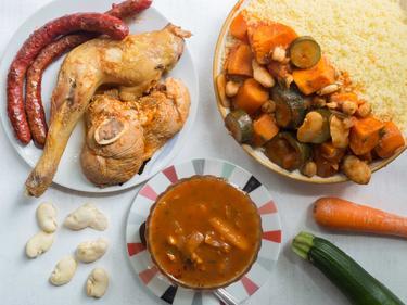 Couscous 3 viandes aux légumes de saison cuisiné par Dahmane