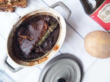 Carbonnade flamande et purée maison cuisiné par David