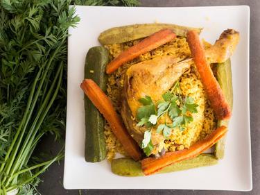 Pilaou de poulet cuisiné par FatimaI