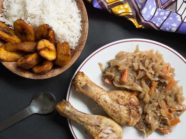 Poulet yassa cuisiné par Hawa