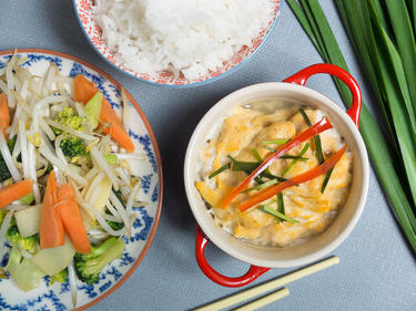 Ho Mok : poisson en flan de coco cuisiné par Kenny