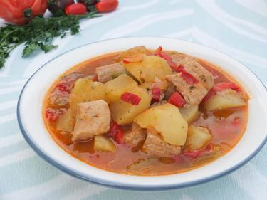 Carne estufada : veau mijoté au vin blanc cuisiné par Sylvie