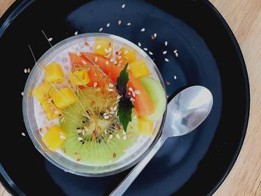 Billes de tapioca aux fruits de saison cuisiné par Thao-Suong