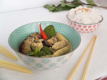 Curry vert au poulet cuisiné par Thao-Suong