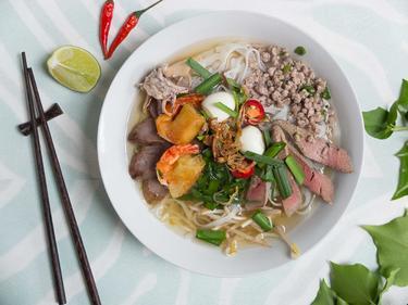 Hu Tieu ou Soupe Saigonnaise cuisiné par Thao-Suong