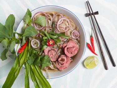 Pho au boeuf cuisiné par Thao-Suong