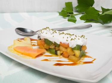 Salade de fruits exotiques et chantilly coco cuisiné par Thao-Suong