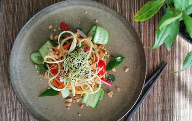 Salade de papaye verte cuisiné par Thao-Suong