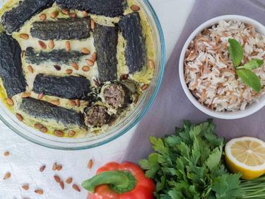 Kousa BLaban : courgettes farcies sauce yaourt cuisiné par Wafaa