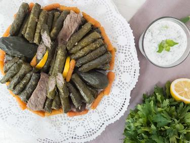 Warak inab : feuilles de vignes farcies à la viande cuisiné par Wafaa