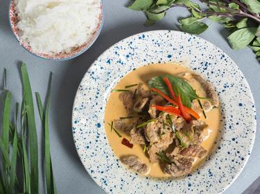 Un curry de boeuf Panang cuisiné par Kenny